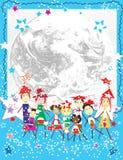 Nous aimons l'hiver Images libres de droits