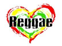 Nous aimons la musique de reggae illustration libre de droits