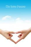 Nous aimons la paix Image libre de droits