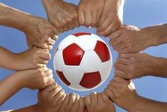 Nous aimons le football Image libre de droits