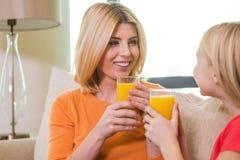 Nous aimons le jus d'orange Photographie stock