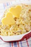 Nous aimons les macaronis et le fromage Photographie stock libre de droits