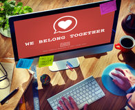 Nous appartenons ensemble concept de Valentine Romance Heart Love Passion Photo libre de droits