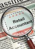 Nous ` au sujet d'engager le comptable au détail 3d Photographie stock