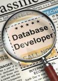 Nous ` au sujet de lotisseur de location de base de données 3d Image libre de droits
