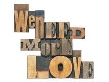 Nous avons besoin de plus d'amour Photos stock