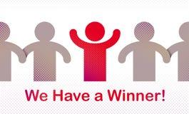 Nous avons un concept de vecteur de gagnant de la direction, de la victoire et du succès, loterie illustration stock