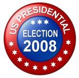 Nous bouton d'élection présidentielle Photographie stock