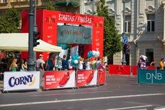 Nous courons le semi-marathon de Vilnius/DNB Image stock
