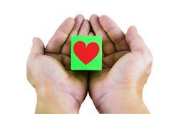 Nous donnerons votre coeur à quelqu'un que vous aimez Chemin de coupure Photographie stock