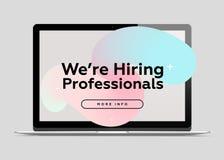 Nous engageons des professionnels Concept créatif d'affaires Images stock