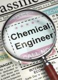 Nous engageons l'ingénieur chimiste 3d Photo libre de droits