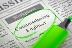 Nous engageons l'ingénieur de commission 3d Images libres de droits