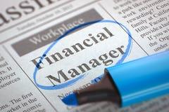 Nous engageons le directeur financier 3d Photographie stock