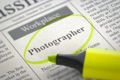 Nous engageons le photographe 3d Photos stock
