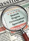 Nous engageons le spécialiste 3D en optimisation de moteur de recherche Photographie stock