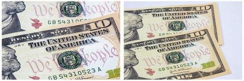 Nous le collage d'argent liquide de concept de personnes Photographie stock