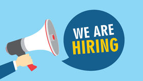 Nous louons le recrutement ouvert d'offre d'emploi image libre de droits