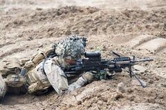 Nous marines sur des militaires Images stock