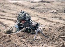 Nous marines sur l'exposition de militaires Image libre de droits