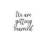 Nous nous marions  manuscrit Calligraphie pour des cartes de voeux, invitations de mariage Image stock