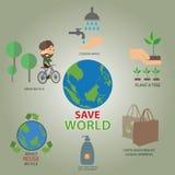 nous pouvons sauver le format du monde ENV 10 Photo stock