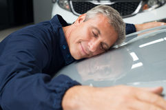 Nous prenons soin de votre voiture Photo stock