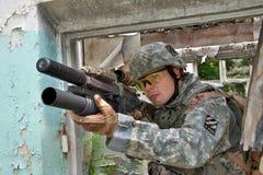 Nous soldat Photo stock