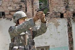 Nous soldat Image stock
