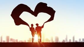 Nous sommes dans l'amour Photographie stock