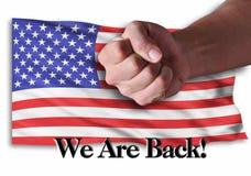 Nous sommes de retour Image libre de droits