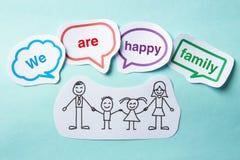Nous sommes famille heureuse Images libres de droits