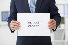 Nous sommes fermés Photos libres de droits