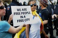 Nous sommes les gens libres. Image stock