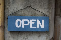 Nous sommes ouverts Image libre de droits