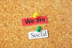 Nous sommes sociaux Photographie stock libre de droits