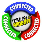 Nous sommes tous cercle relié de connexions de flèche de société de la Communauté Photo stock