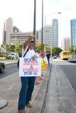 Nous sommes un rassemblement -11 de solidarité d'Hawaï Images stock