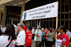 Nous sommes un rassemblement -3 de solidarité d'Hawaï Photographie stock