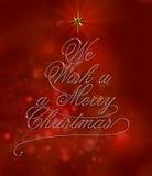 Nous souhaitons à u un Joyeux Noël Photos libres de droits