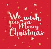 Nous te souhaitons un Joyeux Noël Image stock
