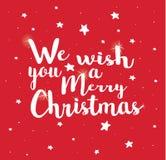 Nous te souhaitons un Joyeux Noël Photo libre de droits
