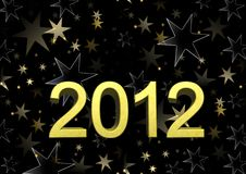 Nous te souhaitons un an neuf heureux 2012 Image stock