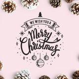 Nous te souhaitons une maquette de carte de Joyeux Noël images libres de droits