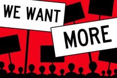 Nous voulons plus Images libres de droits