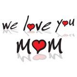 Nous vous aimons maman illustration stock