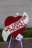 Nous vous aimons Micheal Jackson Photographie stock libre de droits