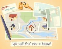 Nous vous trouverons une maison Photo libre de droits