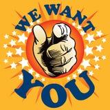 Nous vous voulons Photo libre de droits