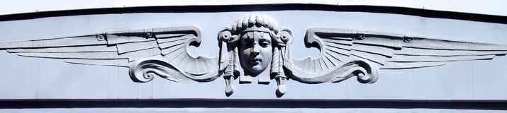Nouveau τέχνης στοιχείων αρχιτεκτονικής Στοκ εικόνες με δικαίωμα ελεύθερης χρήσης